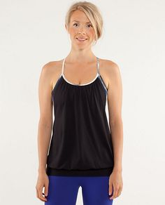 Love this tank for Hot yoga and for Figure Skating. Nice and airy but gives enough coverage.