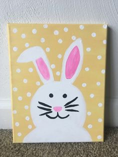 39 ideas easy canvas art for kids easter bunny Easter art 39 ideas easy canvas art for kids easter bunny