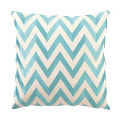 Chevron Pillow I in Turquoise
