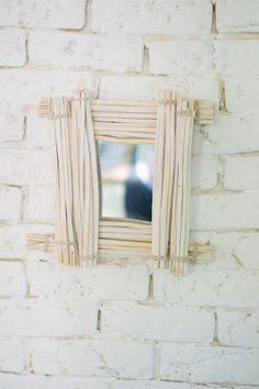 Espejo bambú diy : via La Chimenea de las Hadas