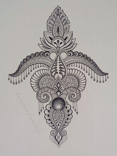 Symbols - Temporary Tattoos , click now. Mandala Drawing, Mandala Tattoo, Mandala Art, Kunst Tattoos, Neue Tattoos, Unalome Tattoo, Doodles Zentangles, Zentangle Patterns, Mehndi Designs