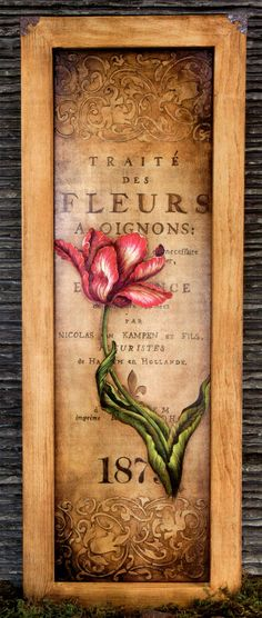 Antiquated Tulip Pattern Line Drawing, Tulips, Lettering, Texture, Antiques, Drawings, Frame, Floral, Pattern