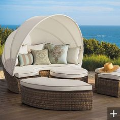 Outdoor lounger by Frontgate
