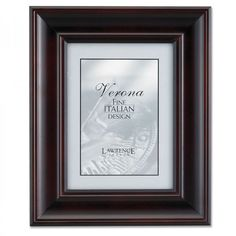 """Lawrence Frames 8"""" x 10"""" Vermont Picture Frame in Espresso - 410580"""
