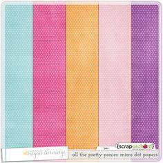 FREE girly micro polka dot digital scrapbook papers