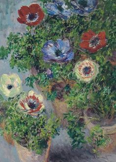 Claude Monet, Anémones en pot on ArtStack #claude-monet #art