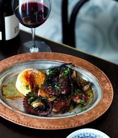 """""""This twice-cooked octopus is one of our most popular dishes at Stanbuli,"""" says Stanbuli chef Ibrahim Kasif. """"In Istanbul's traditional meyhanes, the tarama is usually served split and loose, but this version is emulsified, thick and luscious."""""""