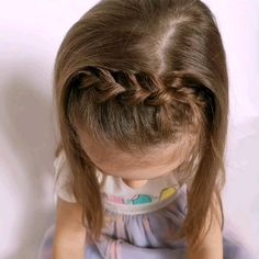 Детские прически, Pensez à l. Easy Toddler Hairstyles, Cute Hairstyles For Kids, Flower Girl Hairstyles, Little Girl Hairstyles, Kid Hairstyles, Easy Hair Cuts, Girl Hair Dos, Rides Front, Girls Braids
