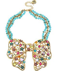 betsey johnson accessories WITH BOWS | Jewelry NECKLACES FAIRYLAND BIG BOW NECKLACE