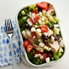 Chopped Greek Chicken Salad | Weight Watchers