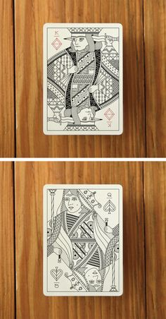 Great illustrations and style for this deck of cards by Pedale Design