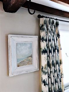 Curtains just fitted in contemporary fabric in a traditional interior. Curtains made up in Norrland Pine from Villa Nova. Forest Hill, Contemporary Fabric, Curtain Poles, Traditional Interior, Interior Inspiration, Blinds, Curtains, Interior Design