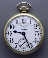 A 16 Size; 23 Jewel; Vanguard Wind Indicator Railroad Grade Pocket Watch!!