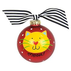 Festive and fun for your furry feline family member, this ornament is the cat's meow! Packaged with a matching gift box and coordinating tied ribbon for easy gift giving and safe storage, it's the purr-fect present for holidays, birthday, or every day.