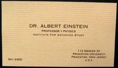 Biz cards of famous folks