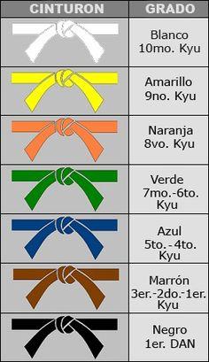 Resultado de imagen para cinturones de karate