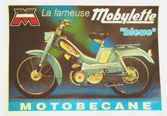 MOBYLETTE MOTOBECANE PIN UP left Sticker gauche