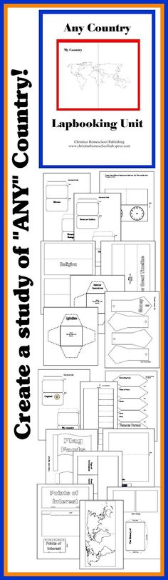 Great for #HOMESCHOOL GEOGRAPHY! http://www.christianhomeschoolhub.spruz.com/teaching-methods---lapbooking-notebooking-etc.htm