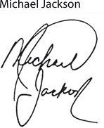 Michael Jackson.. good site for famous signatures