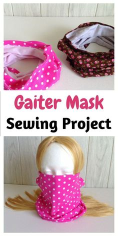 Learn how to sew a gaiter face mask with this easy sewing pattern. This FREE DIY sewing tutorial comes with instructions that makes it easy for any beginner. This sewing project requires only some knit fabric scraps and a small piece pipe of cleaner or floral wire. #DIYfacemask #facemasksewingpattern #facemaskdiysewing #gaiterfacemasksewing #sewingproject #easysewingproject