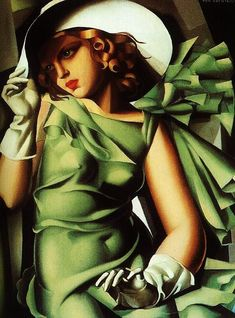 Art -  Art Deco - Tamara de Lempicka - Girl with gloves