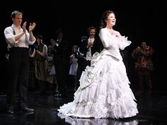 Photo 1 of 35 | Bravissimi! Norm Lewis and Sierra Boggess take their first Broadway bows together as the Phantom and Christine in The Phantom of the Opera. | New Phantom Stars Norm Lewis & Sierra Boggess Make History! See Photos of the Starry Celebration | Broadway.com