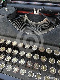 Old typewriter at the antique market of Trento, Italy