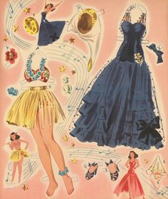 Rita Hayworth paper dolls.    .....................Please save this pin.   .............................. Because for vintage collectibles - Click on the following link!.. http://www.ebay.com/usr/prestige_online