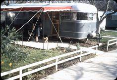 Wonderful color late 40s photo taken at the Birmingham Trailer Park in Van Nuys, CA.