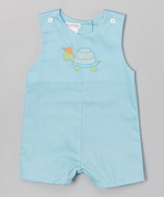 Look what I found on #zulily! Blue Turtle Shortalls - Infant #zulilyfinds