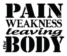 Pain is Weakness Leaving the Body Vinyl Wall Decal // Inspirational Motivational Sticker // Removable // Gym, Workout, Exercise, Military via Etsy