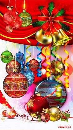 Glitter Ornaments Animated Gif Christmas Sparkling