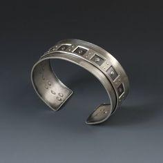 Coffer Line Cuff by Donna Veverka Jewelry