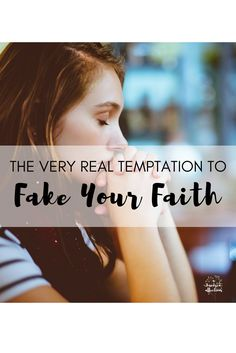 It's a real temptation when we are faced with the choice whether to let our real selves show or to fake it, especially when it comes to our faith. It takes bravery to be real - and it so worth it on so many levels. Christian Marriage, Christian Parenting, Christian Living, Christian Women, Christian Life, Prayer Scriptures, Christian Encouragement, Daughter Of God, Self Esteem