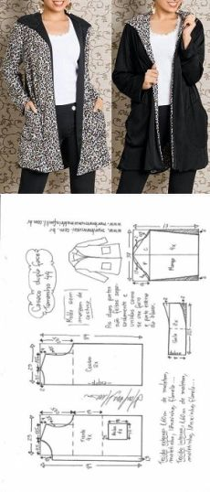 Amazing Sewing Patterns Clone Your Clothes Ideas. Enchanting Sewing Patterns Clone Your Clothes Ideas. Sewing Coat, Sewing Clothes, Diy Clothes, Barbie Clothes, Coat Patterns, Dress Sewing Patterns, Clothing Patterns, Skirt Patterns, Blouse Patterns