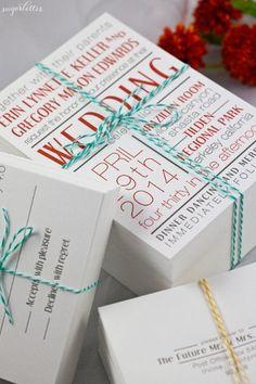 Sugarletter Letterpress Collection Wedding Invitations Photos on WeddingWire