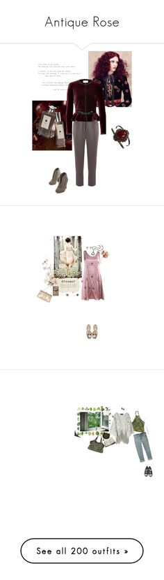Antique Rose by riyaa on Polyvore featuring polyvore, fashion, style, ...Lost, Jo Malone, Mint Velvet, Emilio Pucci, clothing, women's fashion, tops, shirts, tank tops, tanks, cynthia rose french lace, beaded tank, lace shirt, brown tank top, beaded shirt, sequin tank, accessories, hair accessories, jewelry, crowns, tiaras, tiara crown, crown tiara, necklaces, vintage jewelry, 1920s necklace, art deco crystal necklace, vintage art deco jewelry, art deco necklace, Gatsby, Eberjey, PATH, Cathy…