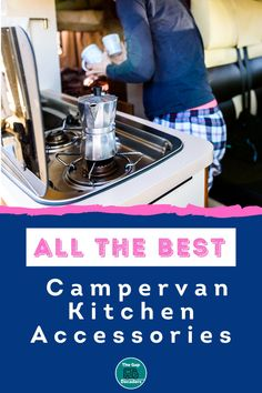 Are you looking for campervan & motorhome kitchen accessories? We've got all the best multi-purpose, space saving & lightweight accessories to make life easier on the road #motorhomekitchenaccessories #campervankitchenaccessories #motorhomecooking #motorhomekitchenideas #campervankitchenstorage #spacesavingcampervankitchenideas Campervan Accessories, Motorhome Accessories, Rv Accessories, Kitchen Accessories, Motorhome Living, Motorhome Interior, Motorhome Organisation, Best Campervan, Life Guide