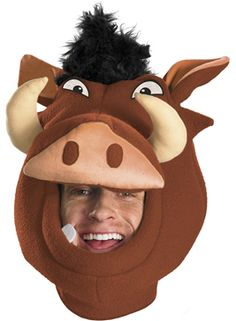 Pumba Lion King Headpiece OMG this is hilarious