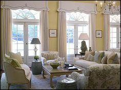 ** Nice window treatments in this sunny room /phoebe howard