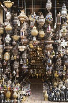 Stock Photo - Metal lanterns in the old souk, Old Medina, Marrakesh (Marrakech), Morocco, North Africa Moroccan Decor, Moroccan Style, Metal Lanterns, Marrakech Morocco, Morocco Travel, North Africa, Bohemian Decor, Old Things, Decoration