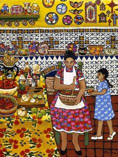 """It's pictures like this that evoke a deep sense of satisfaction and comfort in me. After all, home is where the kitchen is. """"My Grandmother's Kitchen"""" by Donna Polvika"""