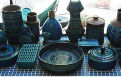 A menagerie of Italian pottery. #comehome
