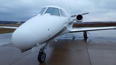 Cessna Citation Excel, rainy day trip, CE-560xls