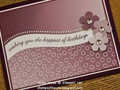 Birthday Cards For Women, Happy Birthday Cards, Fabric Cards, Wink Of Stella, Stamping Up Cards, Sympathy Cards, Greeting Cards Handmade, Making Ideas, Cardmaking
