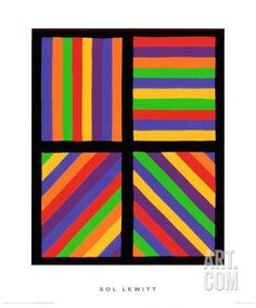 Color Bands in Four Directions, c.1999 Premium Giclee Print by Sol Lewitt at Art.com