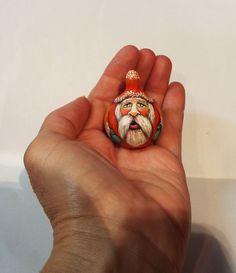 Miniature Folk Art Primitive Santa Claus Doll Dollhouse Gourd Christmas