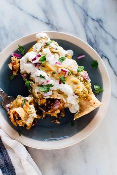 Sweet potato and black bean enchiladas recipe!