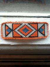 Vintage Native American Hand Beaded Hair Barrette