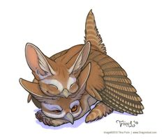 Cuddles by mirroreyesserval.deviantart.com on @deviantART Mythological Monsters, Mythological Creatures, Fantasy Creatures, Mythical Creatures, Classic Fairy Tales, Postcard Printing, Fairytale Art, Cute Animal Drawings, Creature Concept
